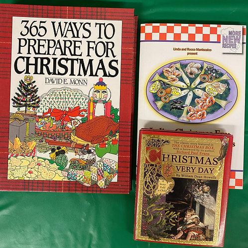 Italian Christmas Book Stack