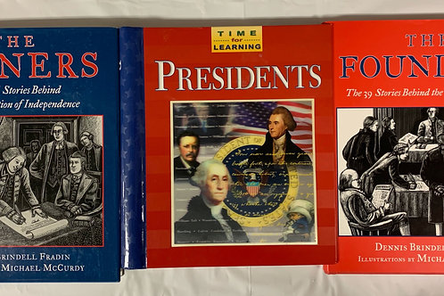 Grade 3  Founding Fathers Book Stack
