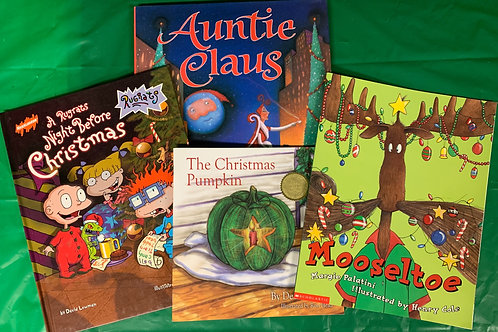 "Grade 1  ""Auntie Claus"" Book Stack"
