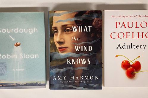 """Sourdough"" Fiction Book Stack"