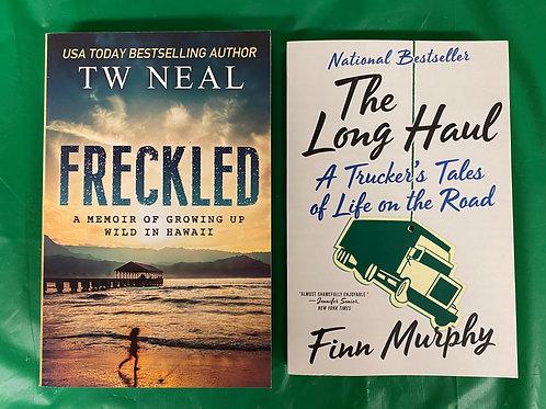"""""""Freckled"""" Book Stack"""
