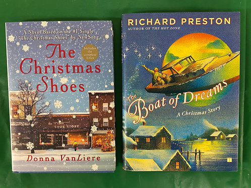 """Christmas Shoes"" Book Stack"