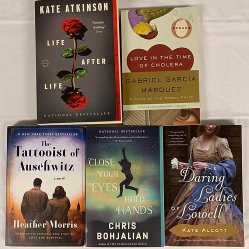 """Daring Ladies"" Fiction Book Stack"