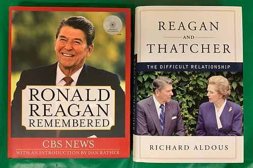 Reagan Bios Book Stack