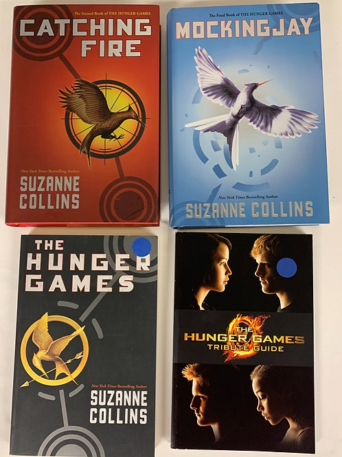 "Middleschooler ""The Hunger Games"" Book Stack"