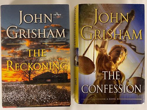 John Grisham Mystery Book Stack
