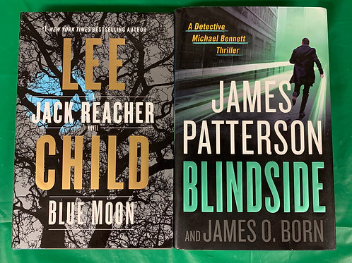 Lee Child / James Patterson Book Stack
