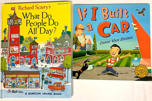 "Preschooler ""If I Built a Car"" Book Stack"