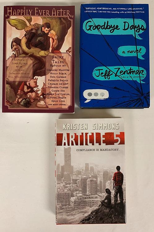 """Teens/YA """"Goodbye Days"""" Book Stack"""