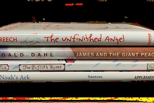 "Grade 3 ""Unfinished Angel"" Book Stack"