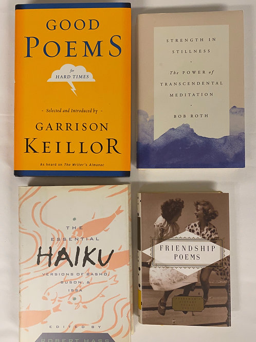 """""""Good Poems for Hard Times"""" Book Stack"""