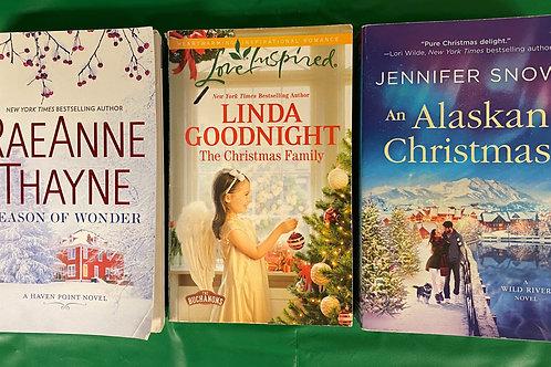 """Alaskan Christmas"" Book Stack"