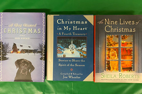 """Christmas in My Heart"" Book Stack"