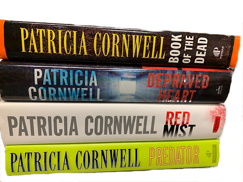 Patricia Cornwell Mystery Book Stack