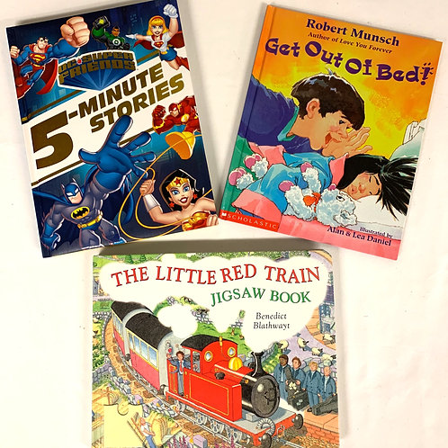 "Preschooler ""Little Red Train"" Book Stack"