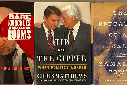 Politics Biography Book Stack