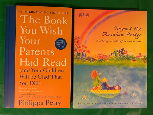 "Parenting / ""Rainbow Bridge"" Book Stack"