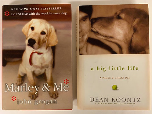 """Marley & Me"" Book Stack"
