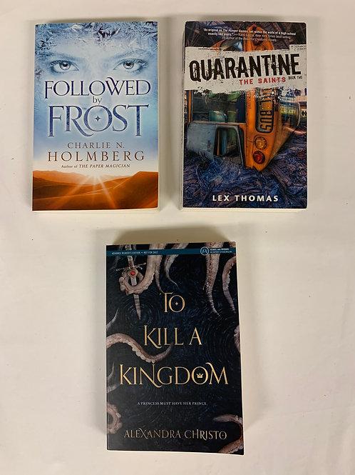 """Teens/YA """"Quarantine"""" Book Stack"""