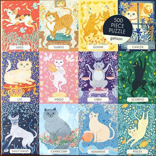 """""""Cat Zodiac"""" Jigsaw Puzzle"""