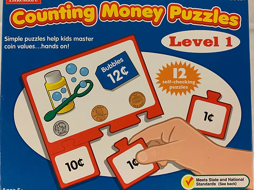 Kids' Counting Money Puzzles