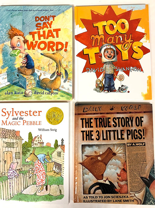 "Preschooler ""Too Many Toys"" Book Stack"