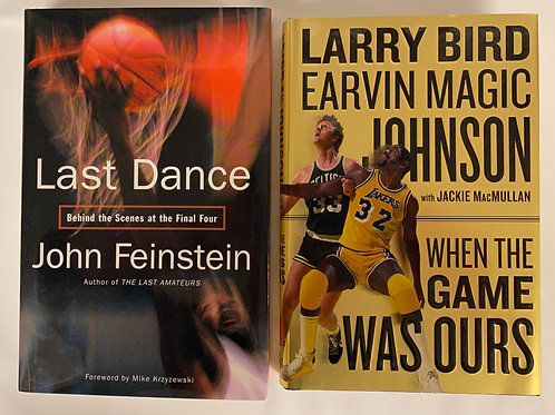 """Last Dance"" Basketball Book Stack"