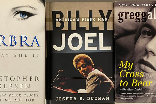 Music Icons Biography Book Stack