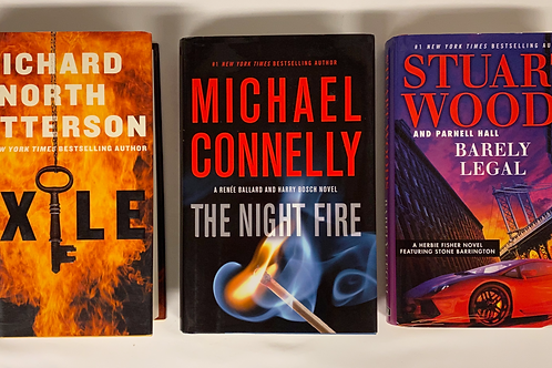 """""""Night Fire"""" Mystery Book Stack"""