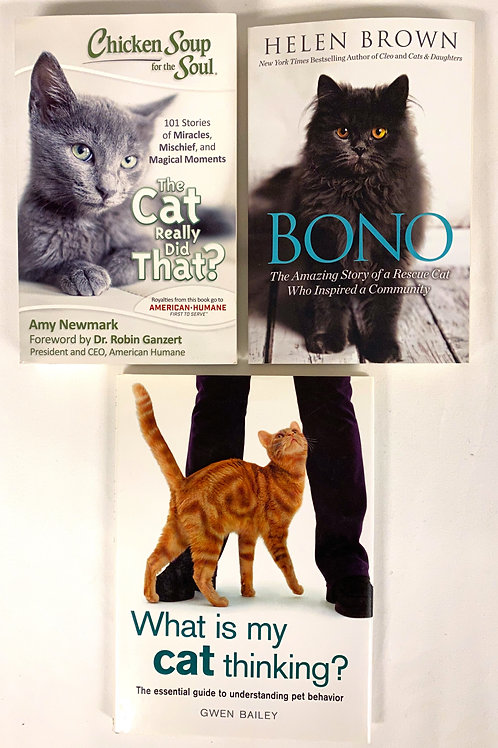 """What is My Cat Thinking?"" Book Stack"