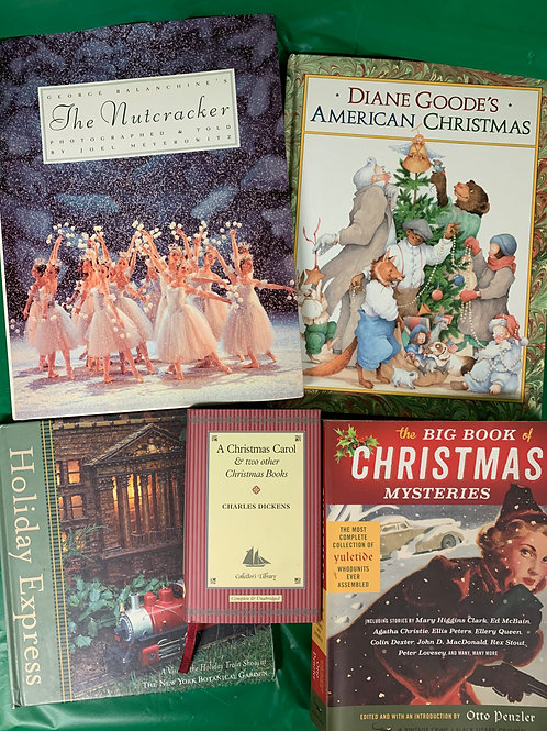 Christmas Mysteries Book Stack