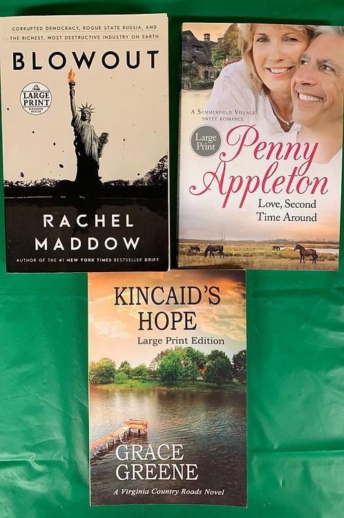 """Kincaid's Hope"" Large Print Book Stack"