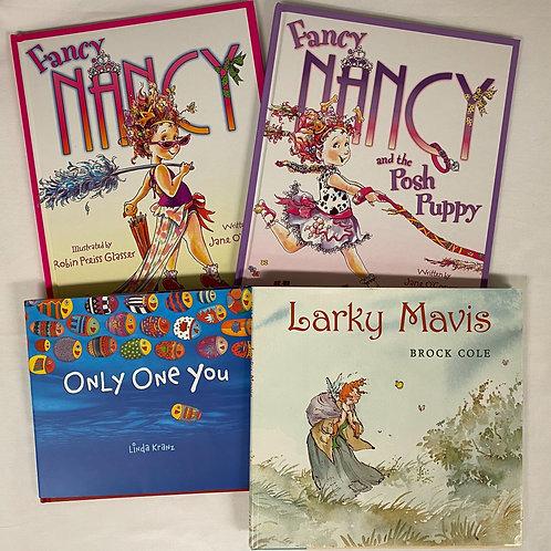 """Preschooler """"Larky Mavis"""" Book Stack"""