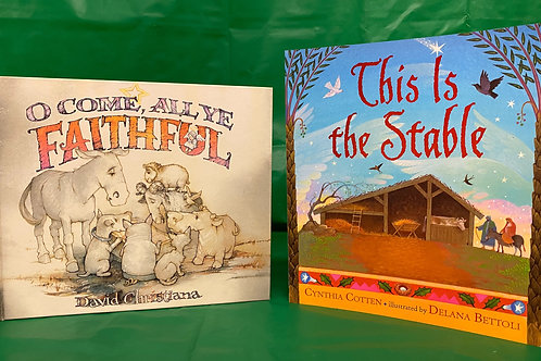 "Preschooler ""O Come All Ye"" Book Stack"
