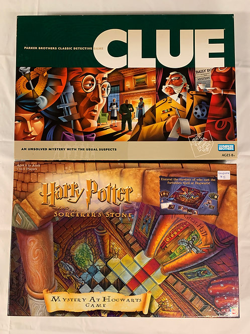Clue + Harry Potter Board Games
