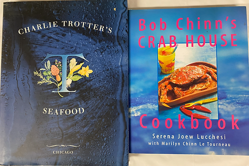 Seafood Cook Book Stack
