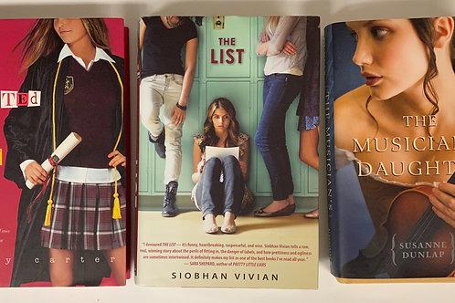 """Teens/YA """"The List"""" Book Stack"""