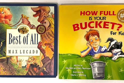 """Preschooler """"How Full Is My Bucket?"""" Book Stack"""