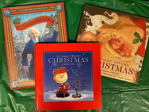 """A Charlie Brown Christmas"" Book Stack"