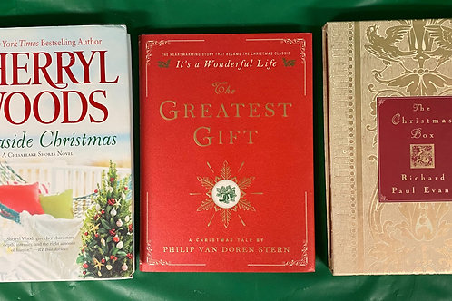 """Seaside Christmas"" Book Stack"