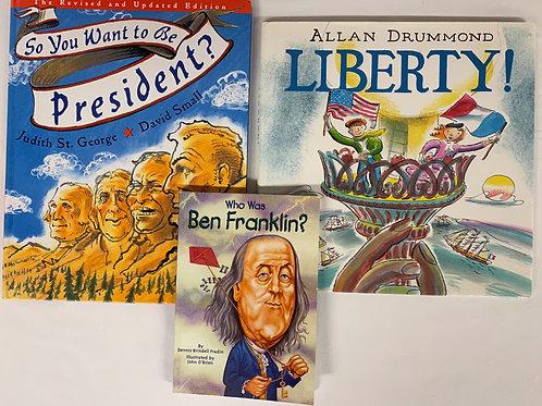 "Grade 3 ""Who Was Ben Franklin"" Book Stack"