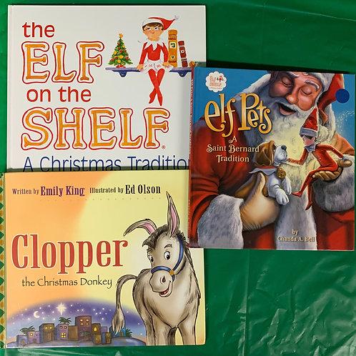 """Preschooler """"Elf Pets"""" Book Stack"""