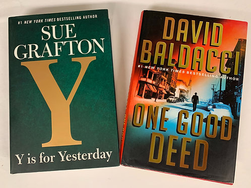 """""""One Good Deed"""" Mystery Book Stack"""