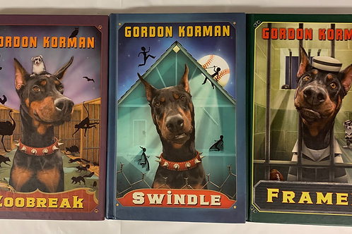 Grade 4 Gordon Korman Book Stack