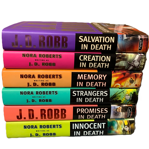 J.D. Robb Mystery Book Stack