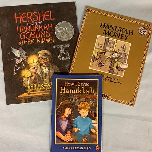 "Grade 3 ""How I Saved Hanukkah"" Book Stack"