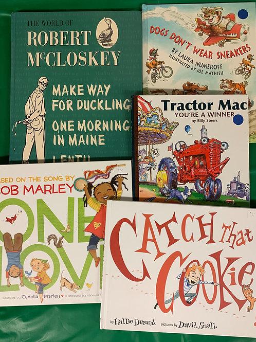 Preschooler McClosky Book Stack