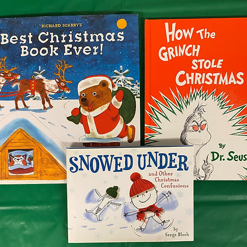 """""""Grinch"""" Book Stack"""