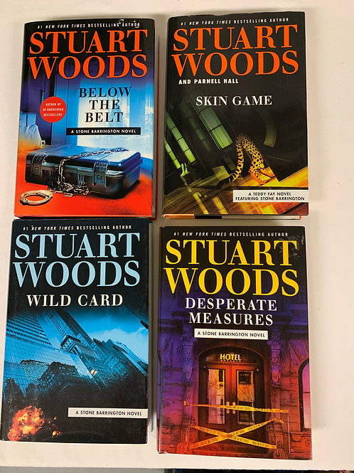 Stuart Woods Mystery Book Stack