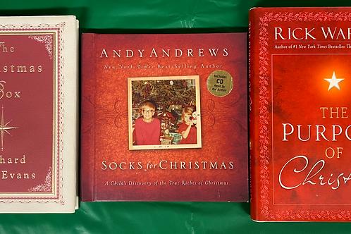 """Socks for Christmas"" Book Stack"